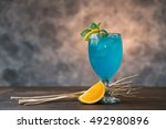 Blue Hawaii Cocktail With...