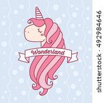 vector illustration of cute... | Shutterstock .eps vector #492984646