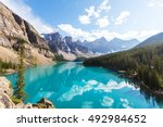 beautiful turquoise waters of...   Shutterstock . vector #492984652