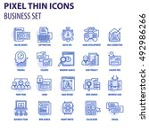 thin line flat icons pack for... | Shutterstock .eps vector #492986266