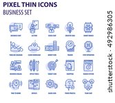 thin line flat icons pack for... | Shutterstock .eps vector #492986305