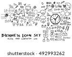business doodles sketch vector... | Shutterstock .eps vector #492993262