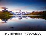 alpine view of the mt.... | Shutterstock . vector #493002106