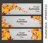 vector set of colorful autumn... | Shutterstock .eps vector #493005112