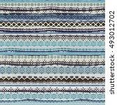 boho style. ethnic seamless... | Shutterstock .eps vector #493012702