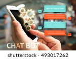 chat bot and future marketing... | Shutterstock . vector #493017262