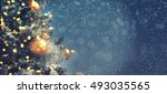 christmas background  | Shutterstock . vector #493035565