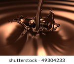 Chocolate splash (3d remarkable abstract backgrounds and objects series) - stock photo