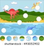 funny cute pterodactyl ... | Shutterstock . vector #493052902