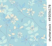 vivid repeating floral   for...   Shutterstock . vector #493056178