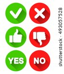 collection of different yes and ... | Shutterstock .eps vector #493057528
