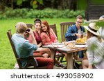 leisure  holidays  eating ... | Shutterstock . vector #493058902