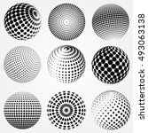 Abstract Halftone 3d Spheres...
