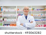 medicine  pharmacy  people ... | Shutterstock . vector #493063282