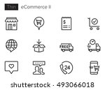 e commerce   online shopping ii ... | Shutterstock .eps vector #493066018