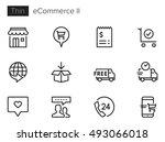e commerce   online shopping ii ... | Shutterstock .eps vector #493066018
