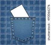 jeans pocket. background of... | Shutterstock .eps vector #493066276