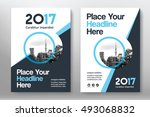 blue color scheme with city... | Shutterstock .eps vector #493068832