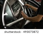 car window tinting series  ... | Shutterstock . vector #493073872