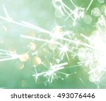 Green Silver And White Abstrac...