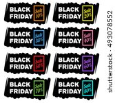 black friday sale banners | Shutterstock .eps vector #493078552