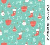vector seamless patterns. hand... | Shutterstock .eps vector #493081936