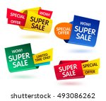 colorful three dimensional... | Shutterstock .eps vector #493086262