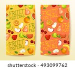 fruit festival   fruit elements ... | Shutterstock .eps vector #493099762