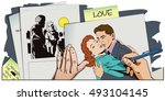 stock illustration. people in... | Shutterstock .eps vector #493104145