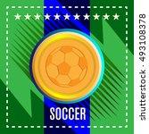 digital vector  football and... | Shutterstock .eps vector #493108378