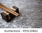 wood chopsticks | Shutterstock . vector #493110862