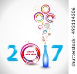 new year 2017 in white... | Shutterstock .eps vector #493114306