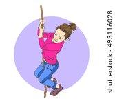vector isolated illustration of ... | Shutterstock .eps vector #493116028