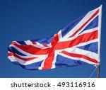 closeup of great britain flag... | Shutterstock . vector #493116916