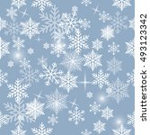 snowflake vector pattern. | Shutterstock .eps vector #493123342