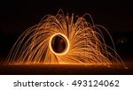 Fire Works Done With Steel Wool.