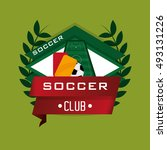 soccer football related icon | Shutterstock .eps vector #493131226