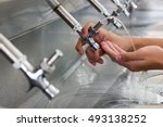 water cooler for drink use in... | Shutterstock . vector #493138252