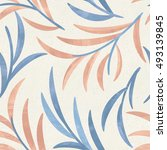 seamless floral pattern in blue ...   Shutterstock . vector #493139845
