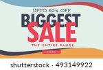 biggest sale banner poster...   Shutterstock .eps vector #493149922