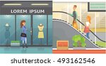 flat shop clothes or clothing... | Shutterstock .eps vector #493162546