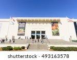 los angeles october 4   the... | Shutterstock . vector #493163578