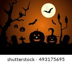 happy halloween | Shutterstock .eps vector #493175695
