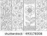 set of four bookmarks in black...   Shutterstock .eps vector #493178308