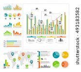 infographics set with color... | Shutterstock .eps vector #493183582