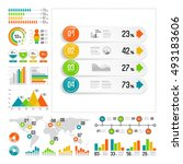 infographics set with color... | Shutterstock .eps vector #493183606