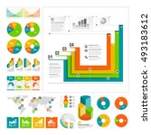 infographics set with color... | Shutterstock .eps vector #493183612