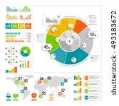 infographics set with color... | Shutterstock .eps vector #493183672