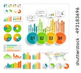 infographics set with color... | Shutterstock .eps vector #493183696