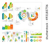 infographics set with color... | Shutterstock .eps vector #493183756